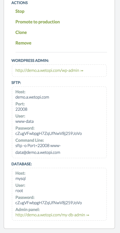 We will log to enable WordPress Multisite with subdirectories using the sftp credentials