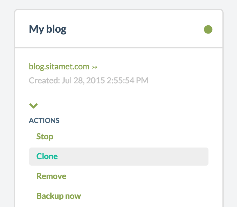 Web with space for create two clones