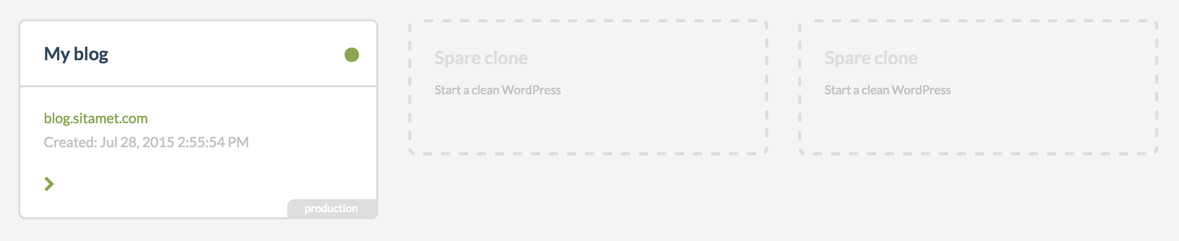 wordpress site con dos clones libres