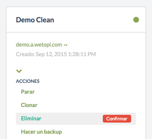 Eliminar un clon WordPress