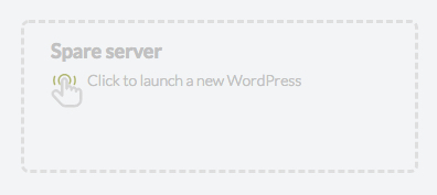 Launch a new WordPress site in one click
