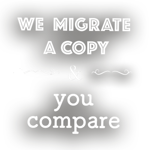 We migrate your WordPress site