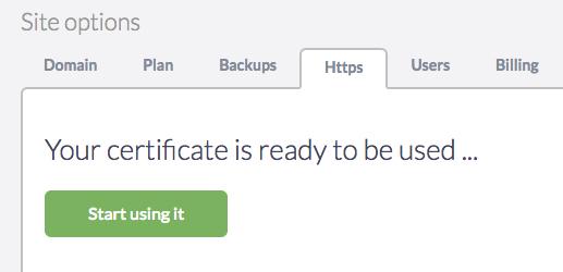 Usar certificado HTTPS