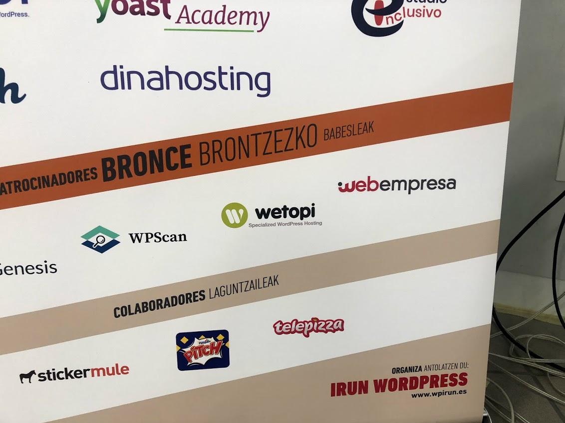 Wetopi patrocinando WordCamp Irun