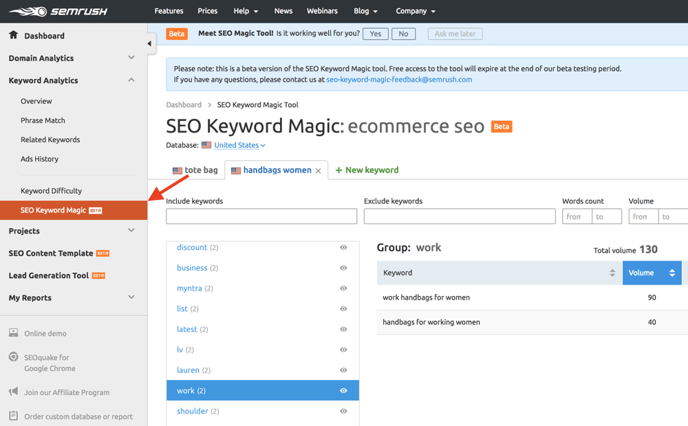 User a keyword planer for your SEO